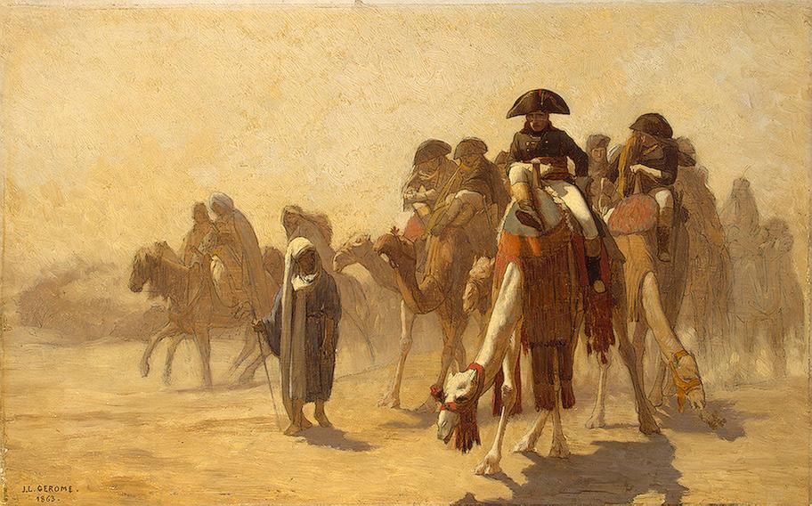 Napoleão no Egito, de 1863, do artista Jean-León Gerome