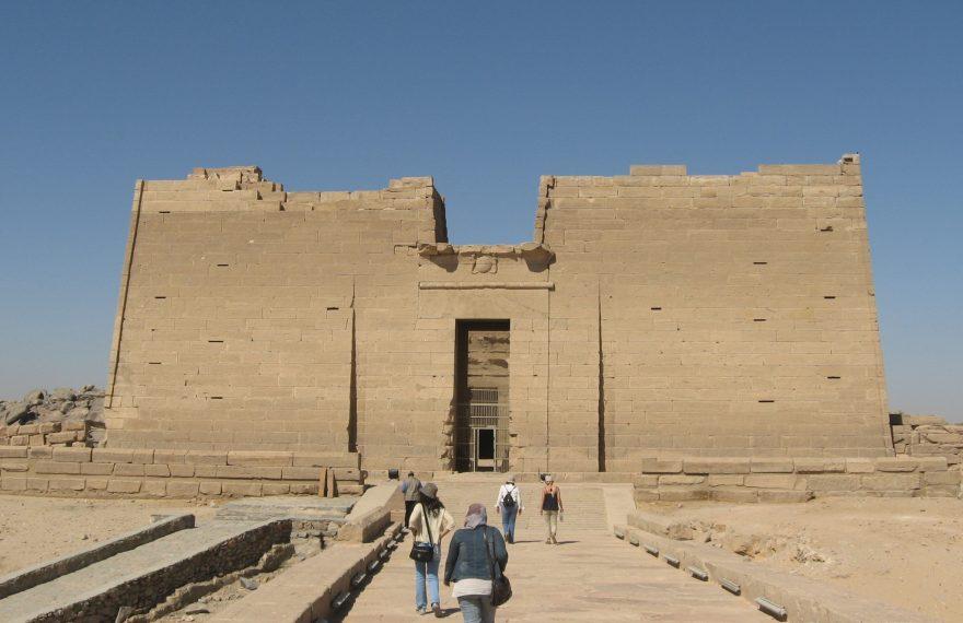 Fachada do templo de Kalabsha, que faz parte do curso