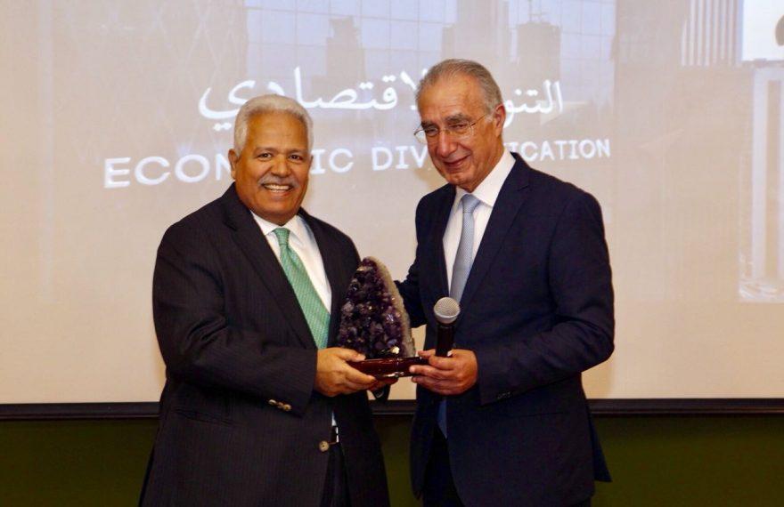 Embaixador do Catar e Rubens Hannun
