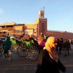 Praça Djemma el Fna, em Marrakech, Marrocos