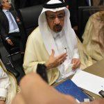 Ministro saudita fala com jornalistas durante reunião da Opep