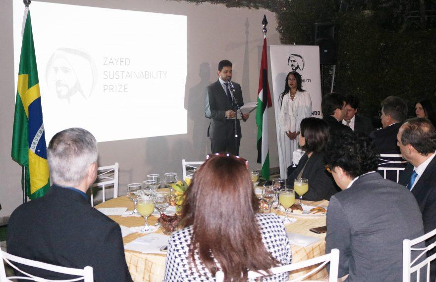 Cônsul promoveu jantar para divulgar Prêmio Zayed