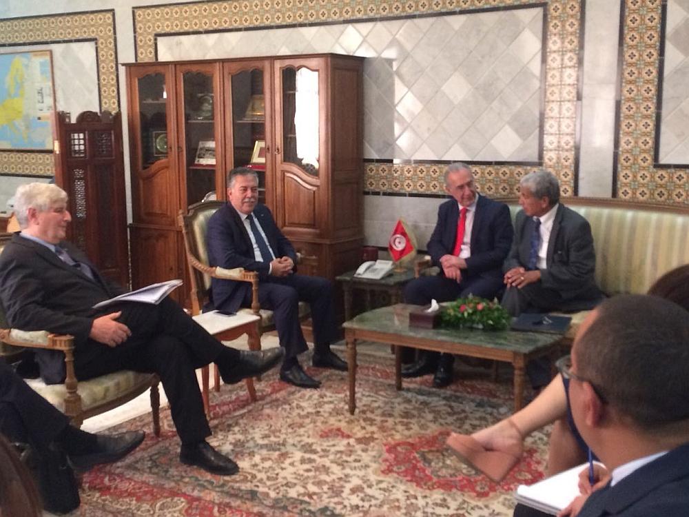 Sabri Bachtobji (2º da esq. p/ dir.) recebeu o presidente da Câmara Árabe