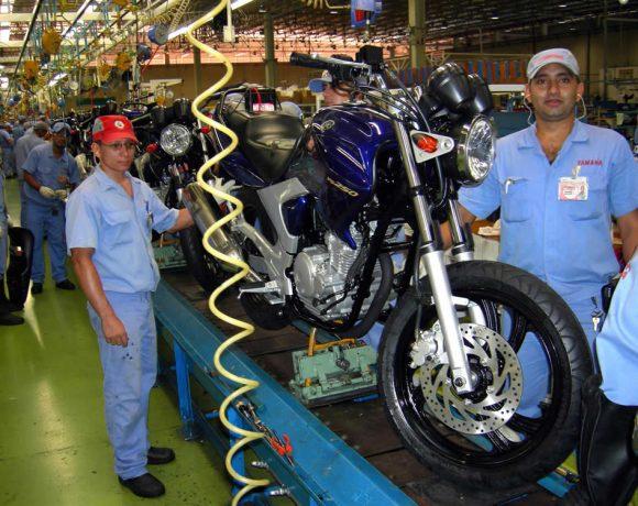 Produção de motocicletas avançou 16,7% no primeiro semestre