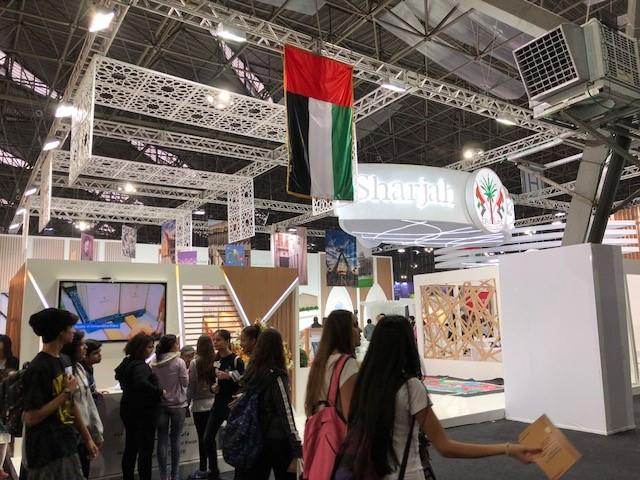Estande de Sharjah na bienal