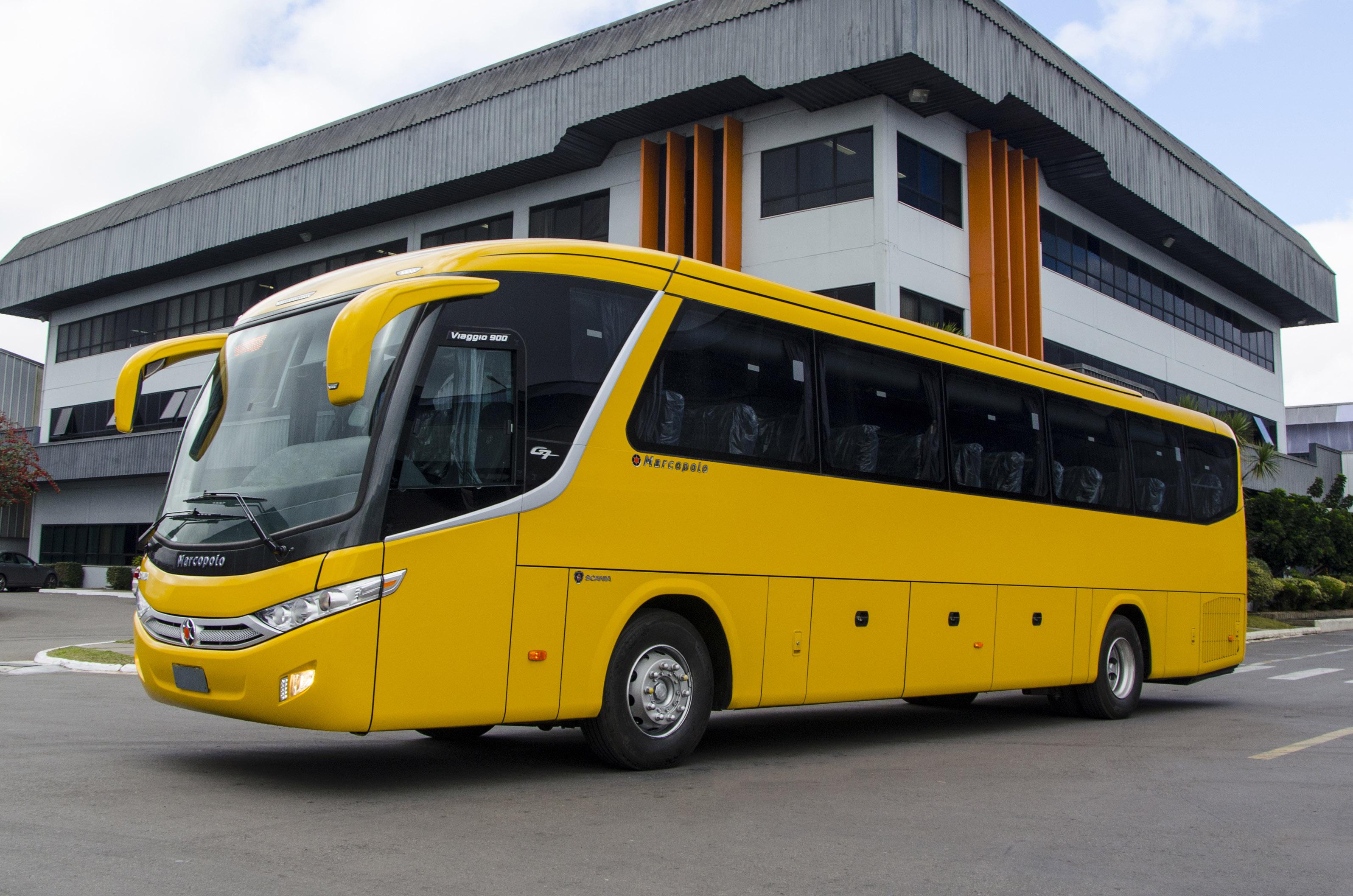Ônibus fabricado pela Marcopolo