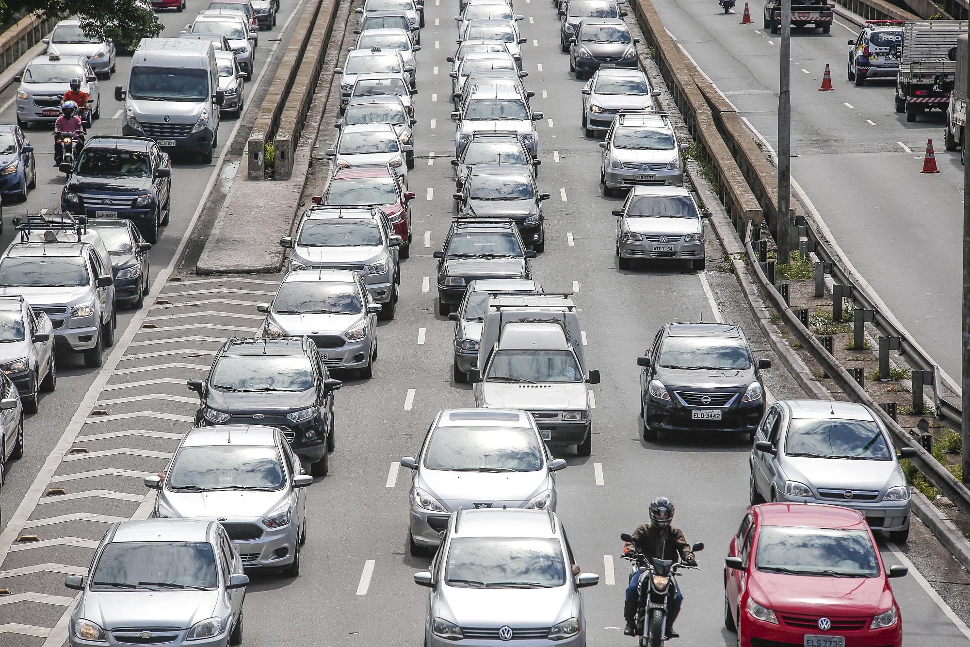 Tráfego de veículos em São Paulo