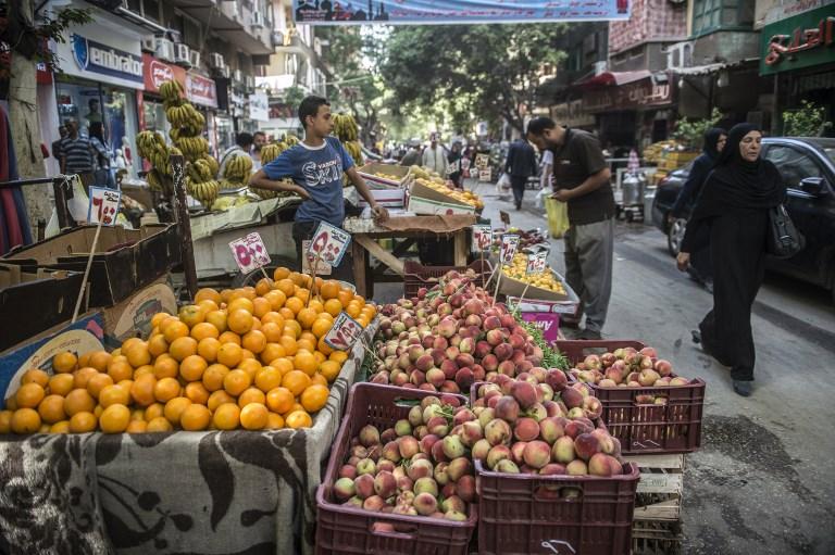Mercado no Cairo, Egito