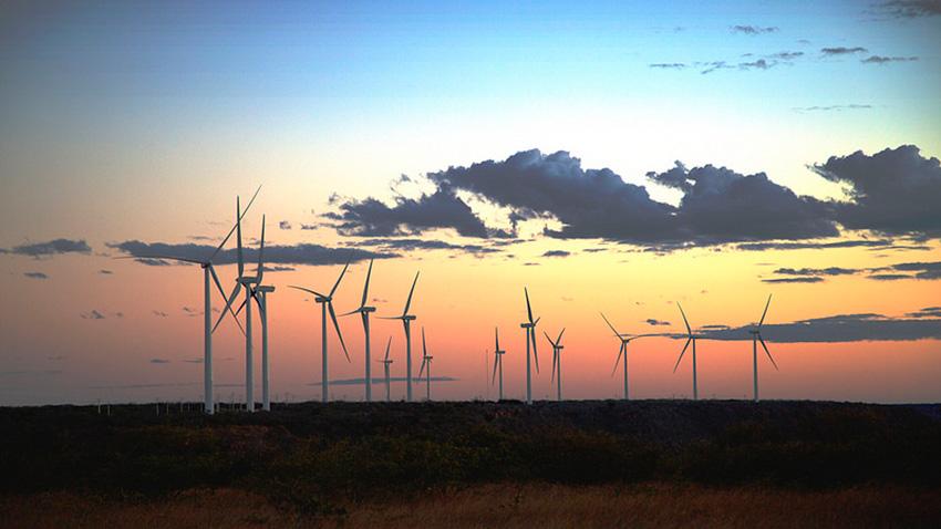 Parque de energia eólica Ventos do Araripe, no Piauí