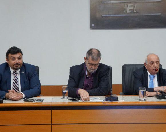 Elkhatib (esq.), Milan e Alaby na Federação das Indústrias de Mato Grosso