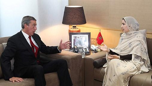 Tomás Bittar Navarro e Rkia Derham discutiram acordo entre Mercosul e Marrocos
