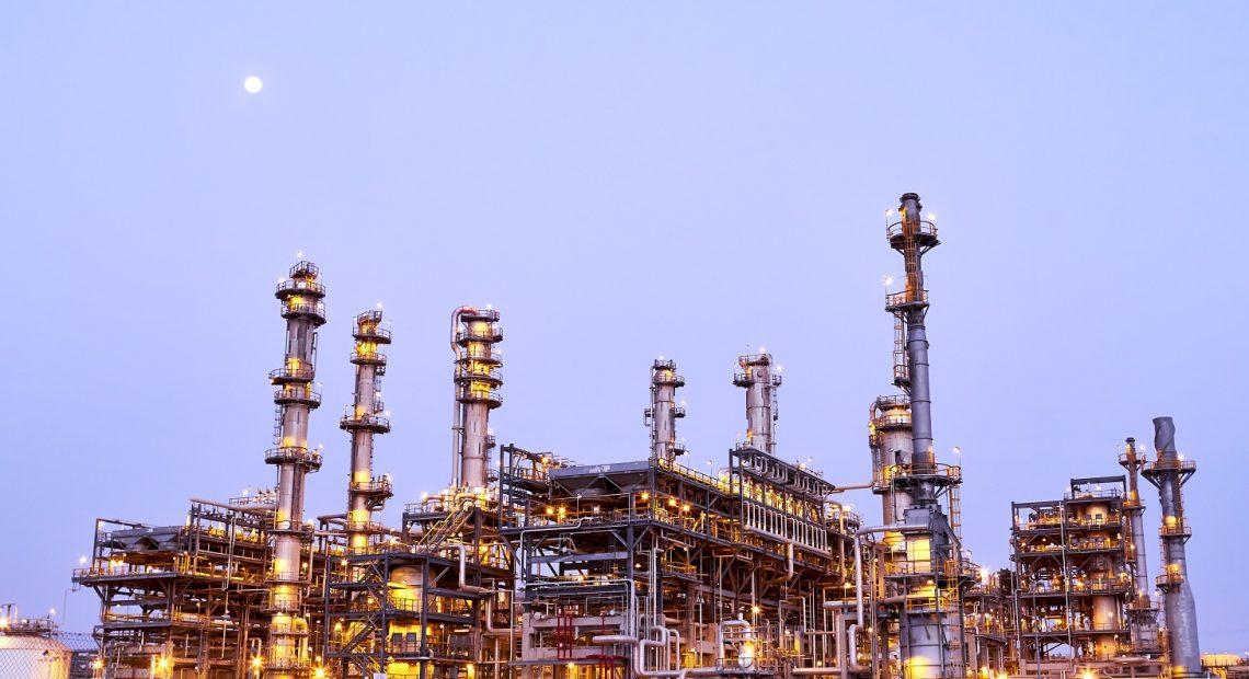 Refinaria dse petróleo na Arábia Saudita