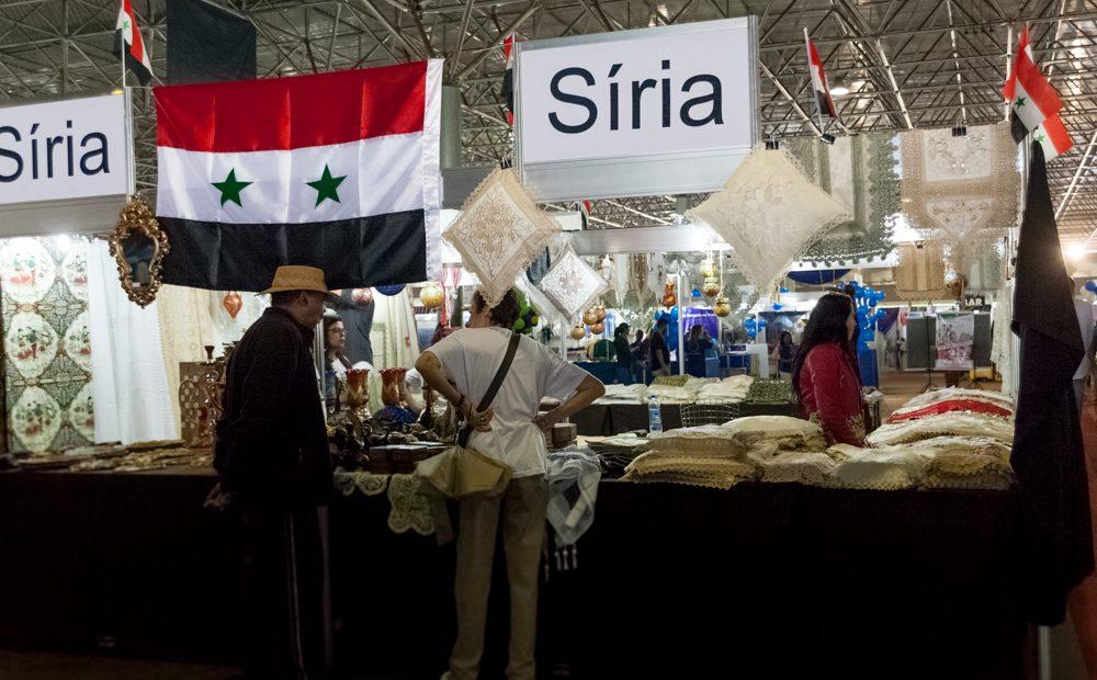 Estande da Síria da última Feira das Embaixadas