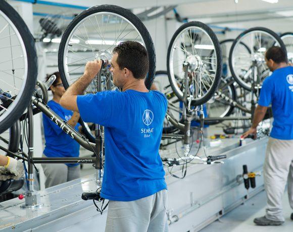 Produção de bicicletas em Manaus