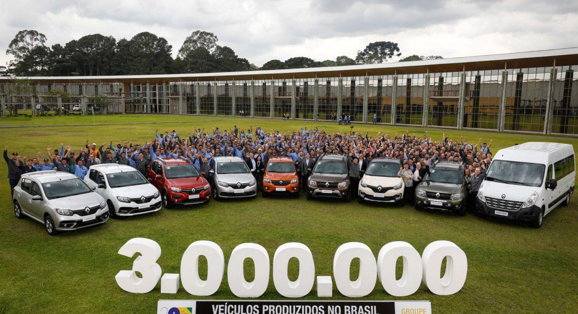 Renault comemora marca de 3 milhões de veículos