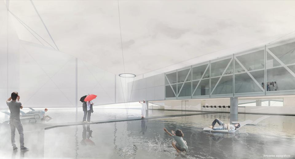 O projeto arquitetônico, relata Gouvêa, quer mostrar nos Emirados Árabes um Brasil que fuja da ideia de obscuro.