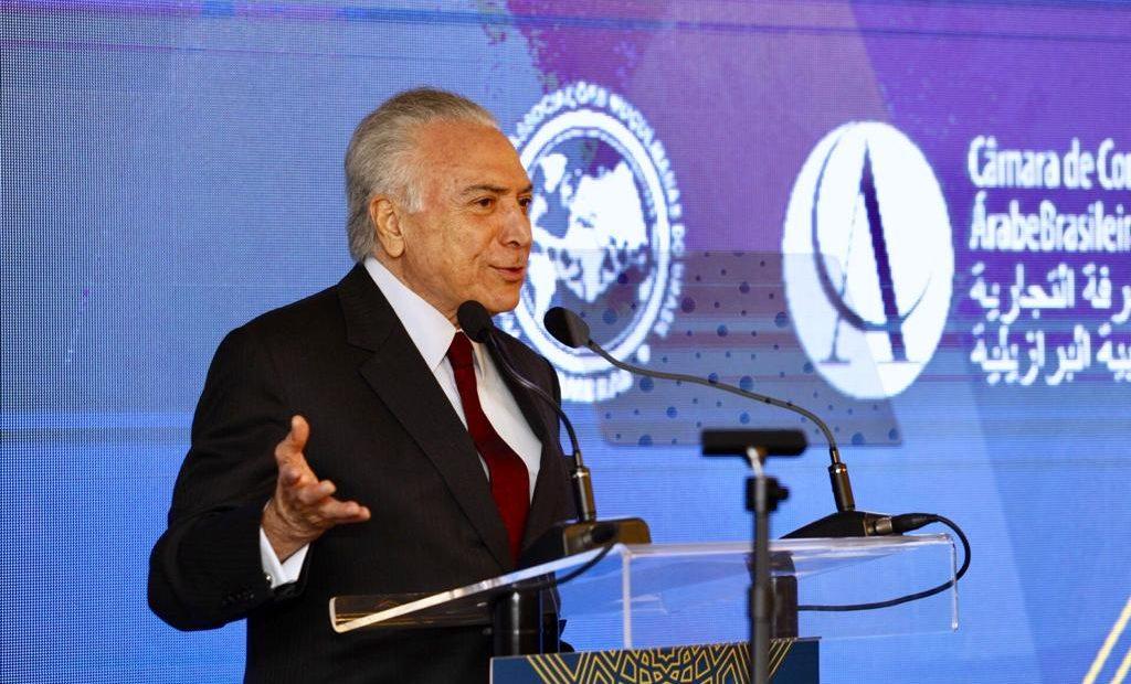 Michel Temer defende ampliação do comércio com árabes