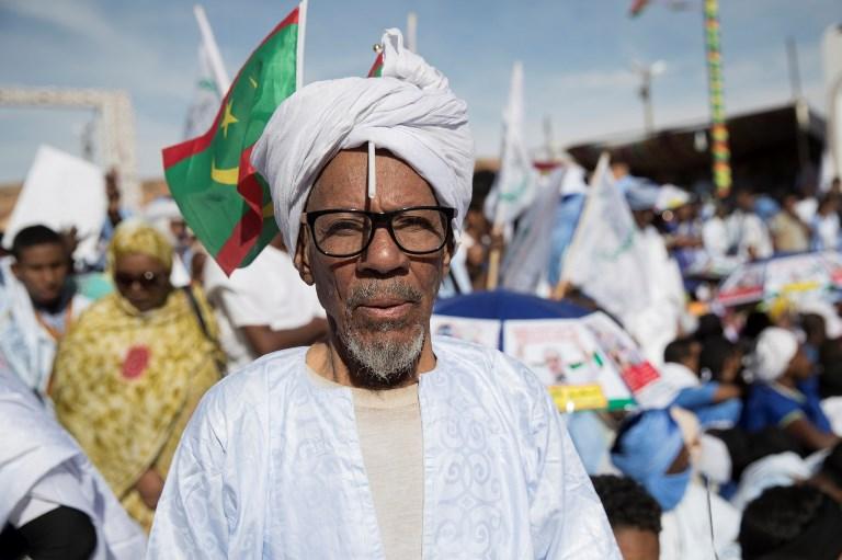 Homem no Festival de Cidades Antigas, na Mauritânia
