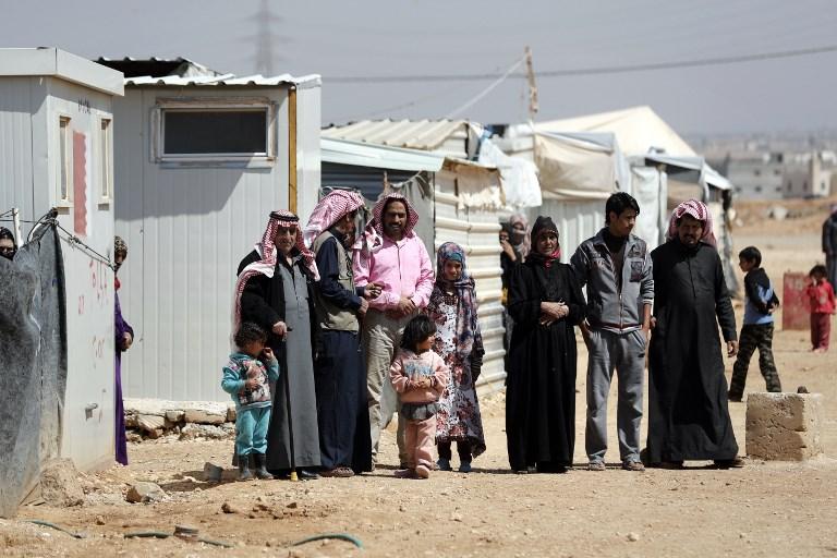 Refugiados Sírios no campo de Zaatari, na Jordânia