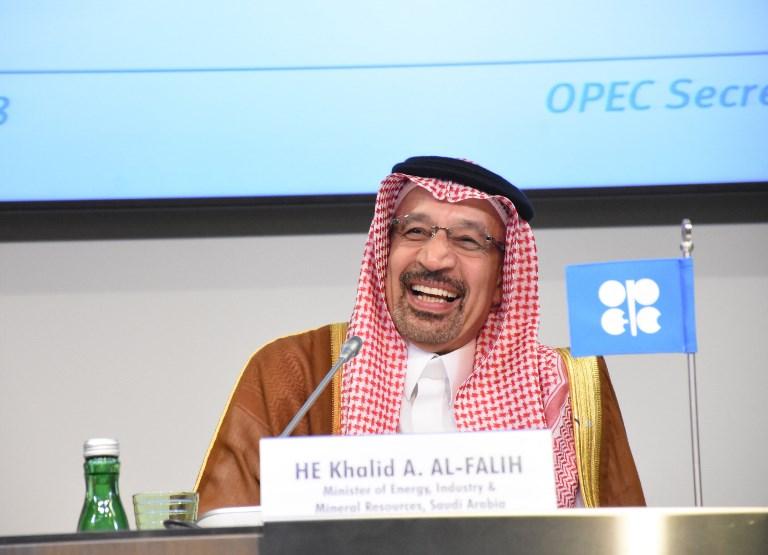 O ministro do Petróleo da Arábia Saudita, Khalid Al-Falih