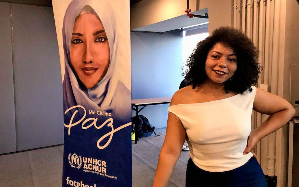 Bárbara Daniel, criadora do avatar de Salam