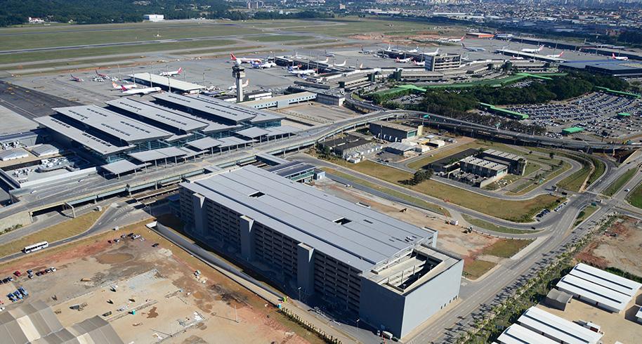 O Aeroporto Internacional de São Paulo, em Guarulhos (GRU
