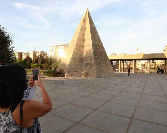 Detalhe da Feira Internacional de Trípoli, projeto de Oscar Niemeyer