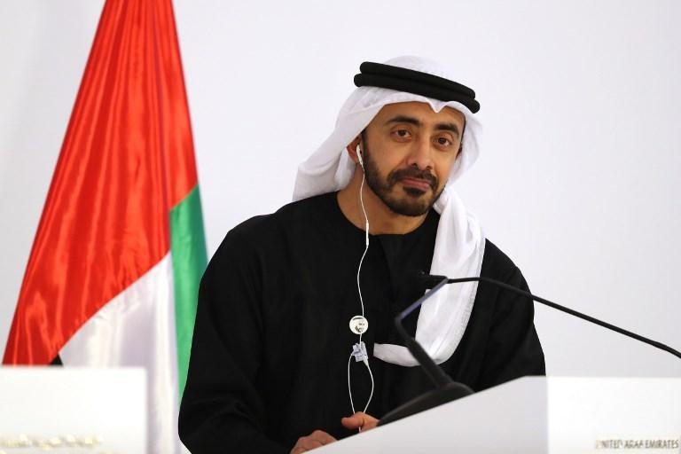 Abdullah Bin Zayed Al-Nahyan, chanceler dos Emirados Árabes