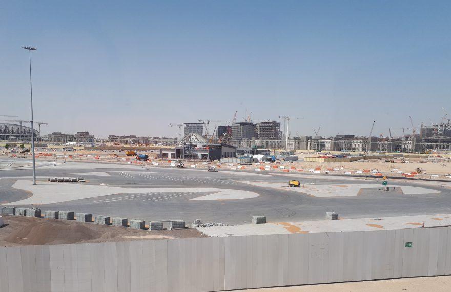 Canteiro de obras da Expo 2020