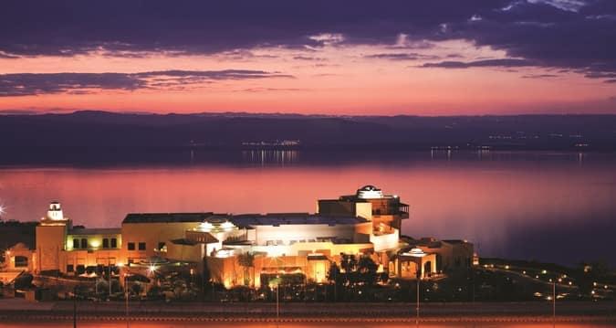 Vista do local onde vai ocorrer o Fórum Econômico Mundial na Jordânia