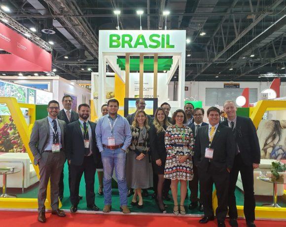 Empresários brasileiros no estande do Mapa no Annual Investment Meeting: atração de investimentos