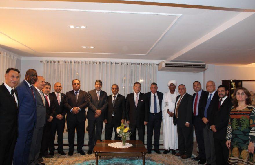 O Conselho dos Embaixadores Árabes no Brasl recebeu o novo colega saudita