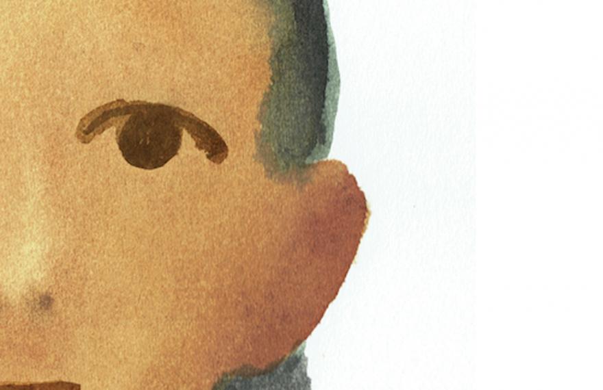 Detalhe da capa do livro sobre a menina refugiada Amal