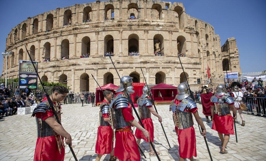 Festival romano em El Djem, na Tunísia