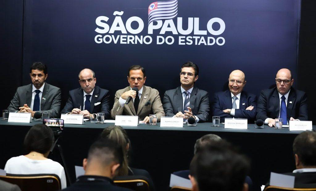 João Doria fala em coletiva sobre escritório de São Paulo em Dubai