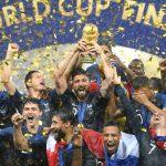 França comemora o título na Copa do MUndo de 2018