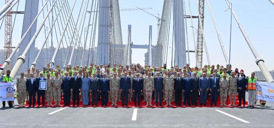Inauguração da Ponte Tahya Msir, no Cairo