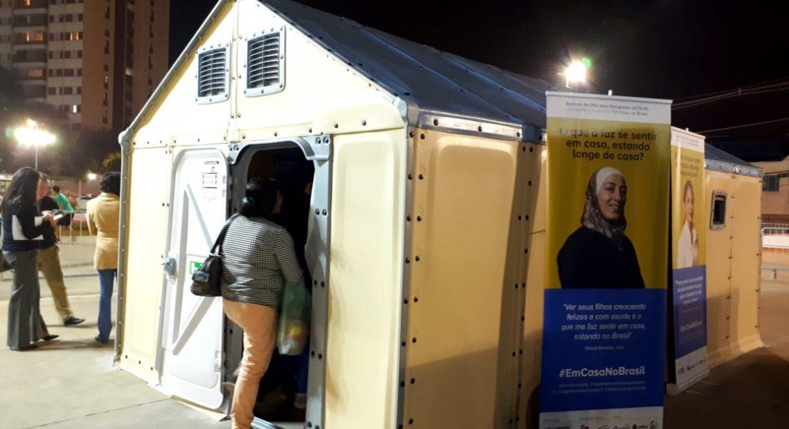 Unidade de Habitação para Refugiados em exposição no Sesc Campo Limpo
