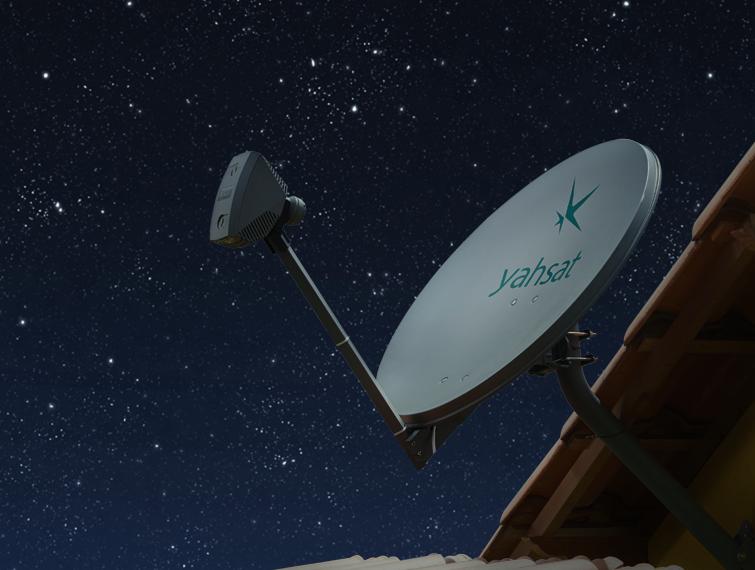 Antena parabólica da Yahsat