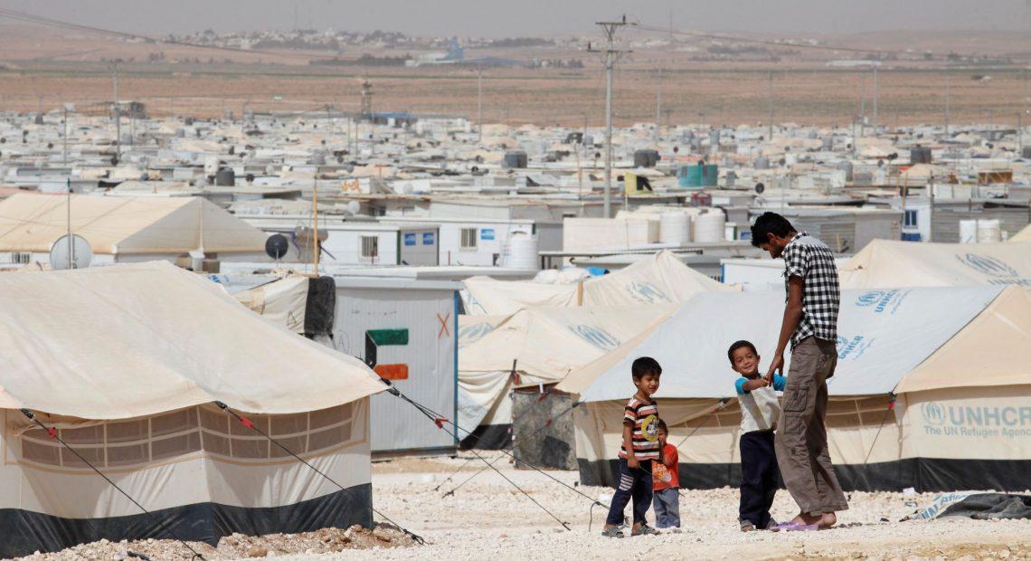 campo de refugiados sírios de Zaatari, na Jordânia