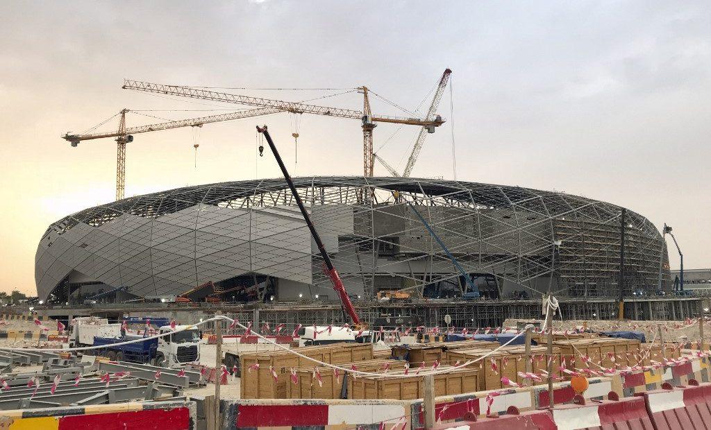 Estádio em construção no Catar, no GCC