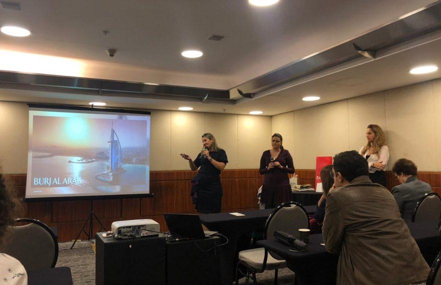 Representantes do grupo Jumeirah fazem apresentação para profissionais de turismo