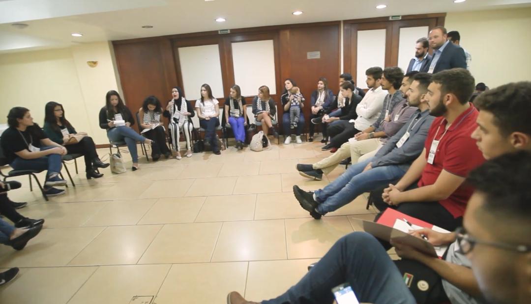Juventude Palestina no congresso da federação em abril