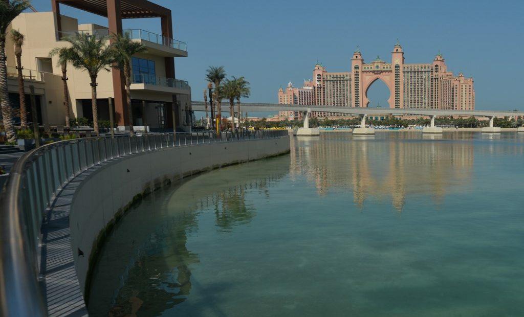 Palm Jumeirah, um dos muitos hotéis de Dubai