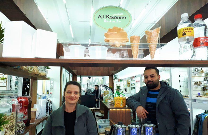 Luciana Tucci e Alaa Kaseem criaram marca de gelatos árabes