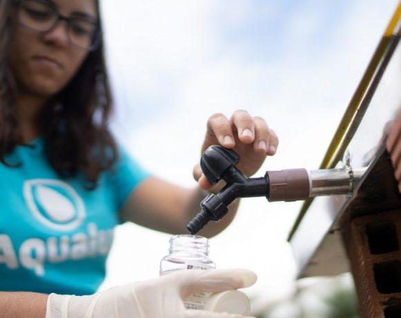 Anna Luiza Beserra mostra Aqualuz, que ganhou prêmio da ONU Meio Ambiente