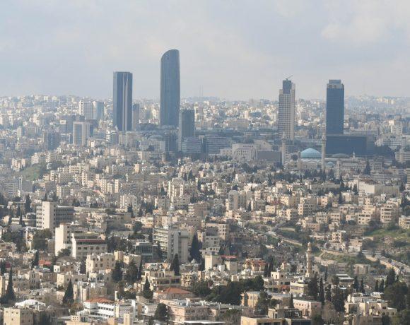 Vista geral de Amã, na Jordânia