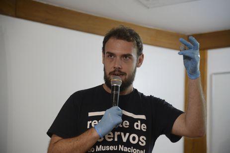 Pedro Von Seehausen, doutorando em Arqueologia pelo Museu Nacional e um dos organizadores da Semana de Egiptologia