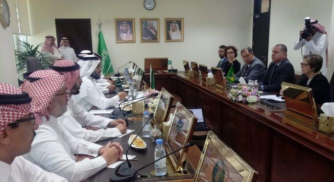 Ministra da Agricultura, Tereza Cristina, em reunião na Arábia Saudita