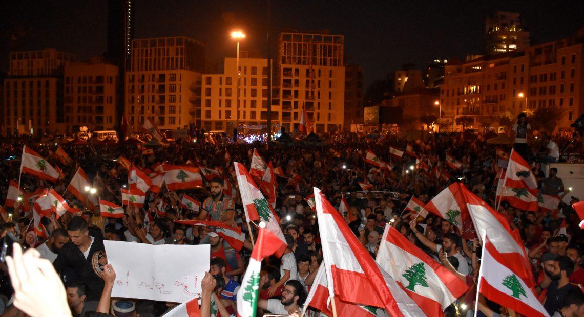 Protestos no Líbano